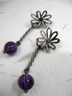 "PENDENT EARRINGS ""VIOLETAS""..."