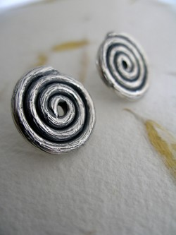 "ROUND EARRINGS ""ESPIRAS"""